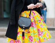Blugirl Bag and Floral Skirt, Outside Vivetta FW2016