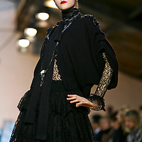 PARIS 2009: A model walks the runway at the Christian Lacroix Ready-to-Wear A/W 2009 fashion show, March 8, 2009 in Paris, France.