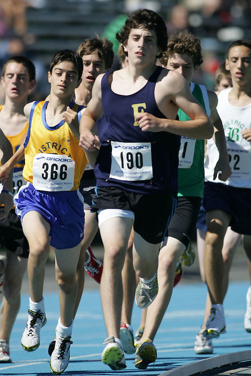 Steven Hosier and Michael Pesce competing in the 3000m at the 2007 Ontario Legion Track and Field Championships. The event was held in Ottawa on July 20 and 21.
