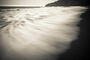 Waves, Waipio Valley beach, Hamakua Coast, The Big Island, Hawaii