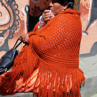 South America, Bolivia, La Paz. Bolivian woman at the Witch Doctor's Market of La Paz.