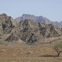 Hajar Mountains in Oman.<br />