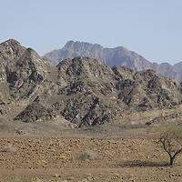 Hajar Mountains in Oman.<br />
