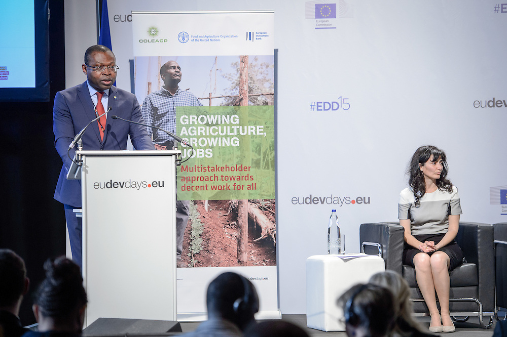 04 June 2015 - Belgium - Brussels - European Development Days - EDD - Jobs - Growing agriculture , growing jobs - The private sector on the spot - Viwanou Gnassounou ,<br /> Assistant Secretary General - ACP Secretariat &copy; European Union