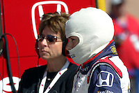 Danica Patrick and mother, Bev, at the California Speedway, Toyota Indy 400, October 16, 2005