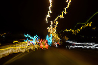 A63, Hull, East Yorkshire, United Kingdom, 30 April, 2014. Pictured: Hand held extended exposures