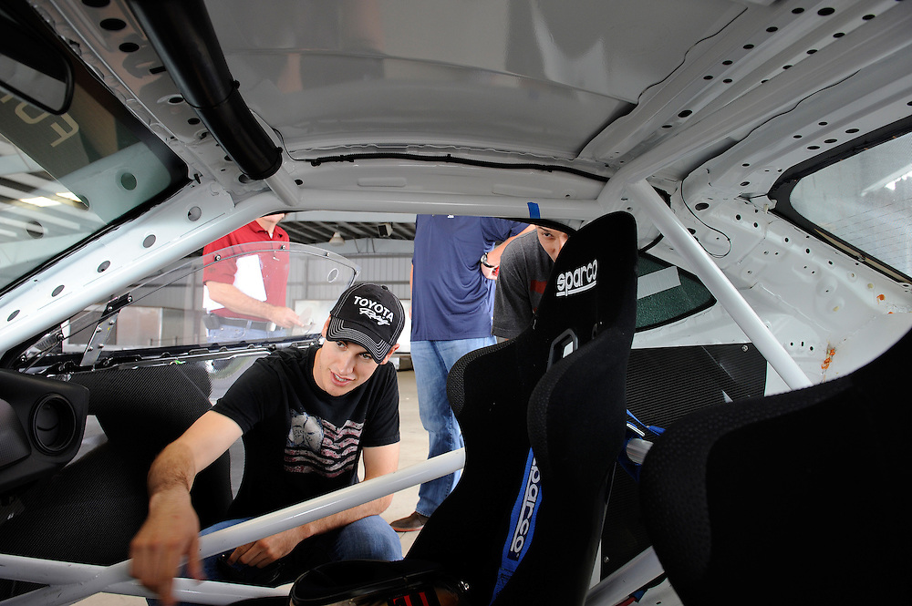 12 June, 2012, Concord, North Carolina USA.Joey Logano checks out the Scion FRS drift car.(c)2012, Scott R LePage .LAT Photo USA