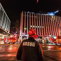 Night Fire on Olympic Blvd.