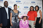l to r: Earl Lucas, Angela Burt-Murray, Dorothy Heights, Crystal Worthem and Michelle Ebanks at The Freedom's Sisters Luncheon sponsored by Ford Motors at The 2009 Essence Music Festival held at The New Orleans Marriott Convention Center on July 2, 2009 in New Orleans, Louisiana