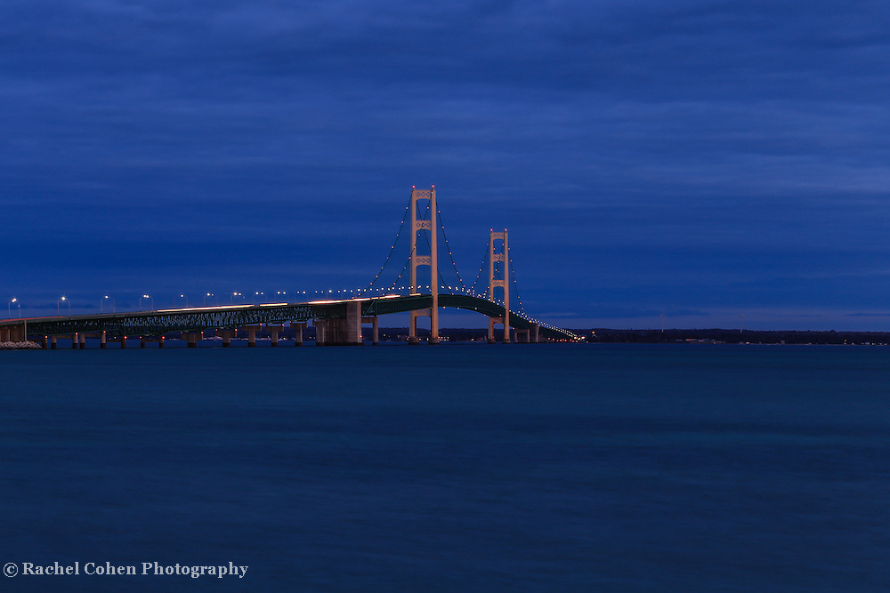 """Mackinac Bridge Night View"""