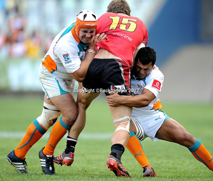 Jaco Taute for MTN Lions. Super Rugby - Free State Stadium aka Vodacom Park Stadium, Bloemfontein, South Africa. 7 April 2012.<br /> &copy;DeneseLups/BackpagePix
