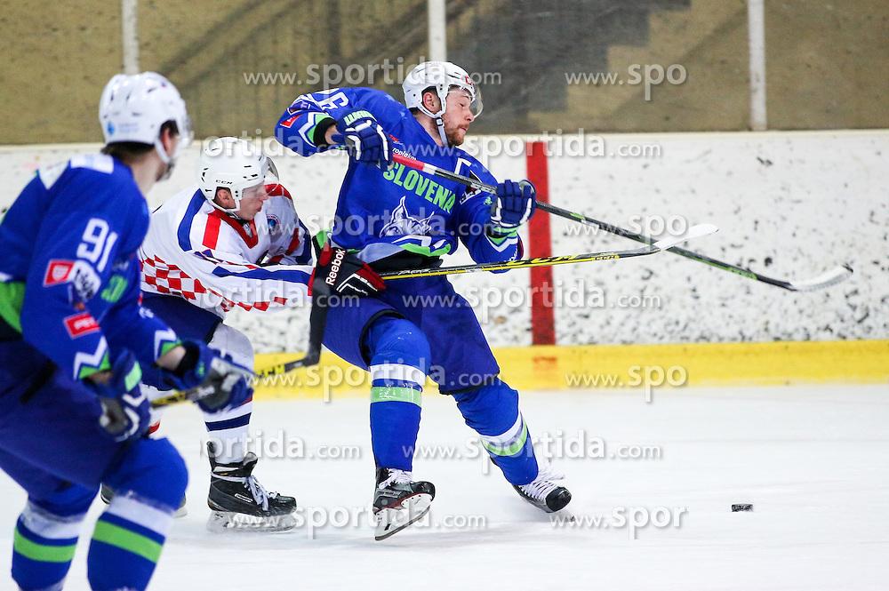 Jan Urbas of Slovenia during friendly ice hockey match between Slovenia and Croatia, on April 12, 2016 in Ledena dvorana, Bled, Slovenia. Photo By Matic Klansek Velej / Sportida
