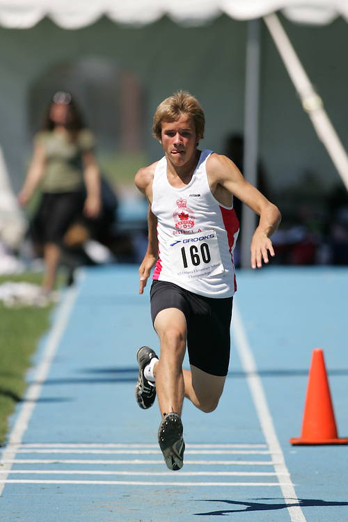 Ben Withers competing in the triple jump at the 2007 Ontario Legion Track and Field Championships. The event was held in Ottawa on July 20 and 21.