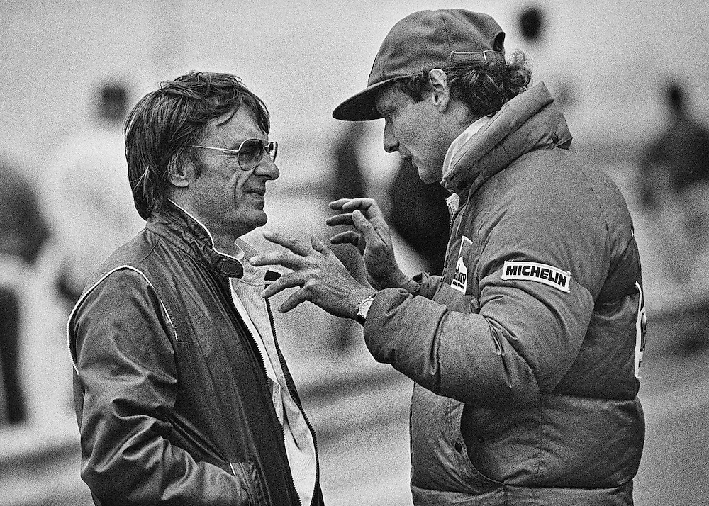 For the past 35 years, three-time World Champion Niki Lauda and Formula One CEO Bernie Ecclestone have had a tremendously strong friendship. <br /> <br /> Beginning before 1978, when Lauda left Ferrari to join Ecclestone's Brabham Alfa Romeo team, they have maintained enormous respect, albeit grudgingly for each other's opinions.<br /> <br /> Here, they discuss the severe bumps that were affecting cars around the 1982 Detroit Grand Prix circuit. As a major spokesperson for driver's safety, Lauda knew he always had an inside approach to getting Ecclestone's ear.
