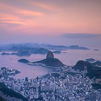view from Corcovado over Sugar Loaf.Rio de Janeiro.Brazil