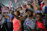 Supporters cheer for Democratic presidential nominee Hillary Clinton at a campaign kickoff rally after the Democratic National Convention in Philadelphia July 29, 2016.  REUTERS/Rick Wilking
