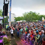 Ukelele master Jake Shimabukuro performing at the Old Settler's Bluegrass Festival, Austin, Texas, April 18, 2015.