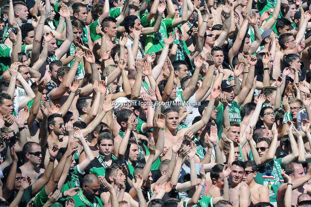 AMBIANCE SUPPORTERS Saint Etienne  - 12.04.2015 - Saint Etienne / Nantes - 32eme journee de Ligue 1 <br />Photo : Jean Paul Thomas / Icon Sport