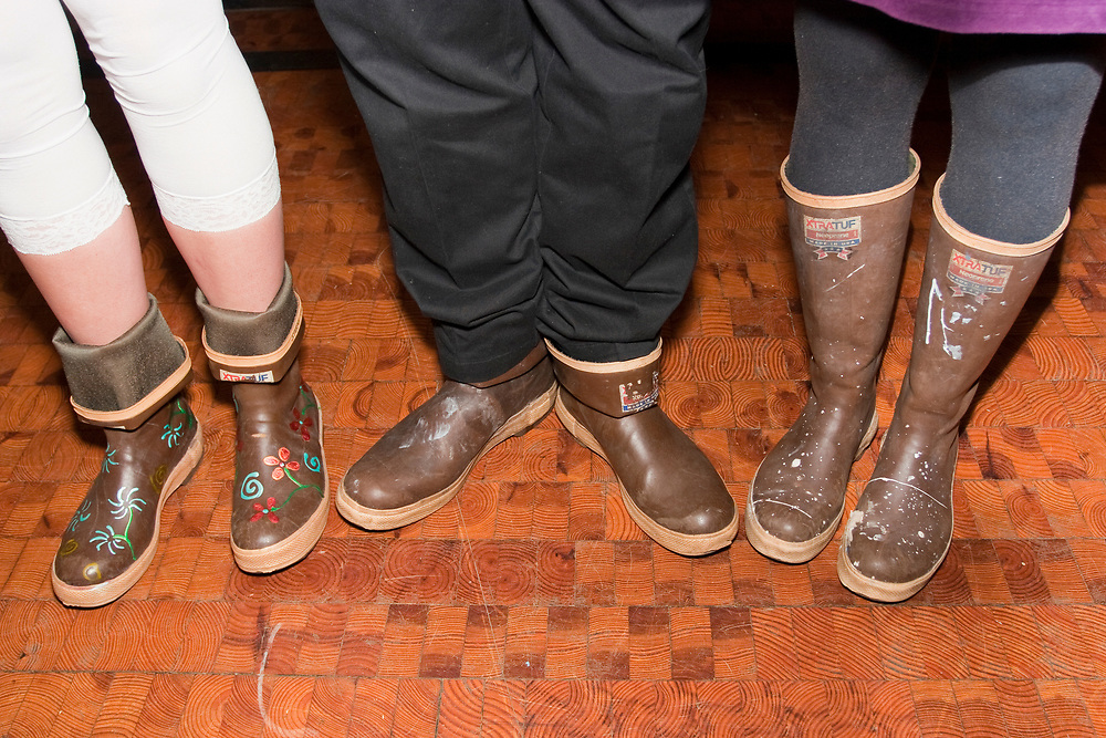 Festive and hard-working Xtra Tuf boots show off the owners' talents and personalities.