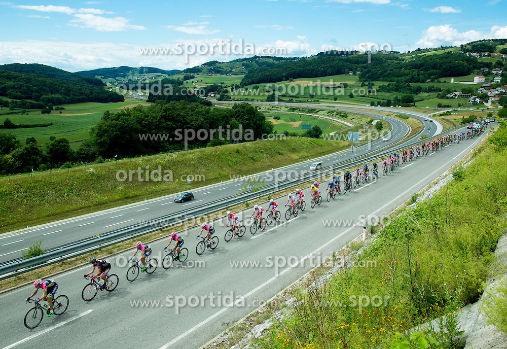 Peloton near Novo mesto during Stage 4 of 22nd Tour of Slovenia 2015 from Rogaska Slatina to Novo mesto (165,5 km) cycling race  on June 21, 2015 in Slovenia. Photo by Vid Ponikvar / Sportida