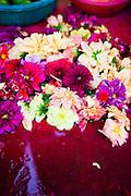 Flower offerings at stalls near the Sri Maha Mariamman Temple.