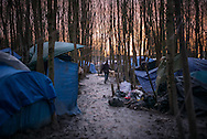 Part of the Dunkerque camp called Jungle, most of the camp is looded and migrant are forced to live in the mud, Dunkerque France. FEDERICO SCOPPA/CAPTA