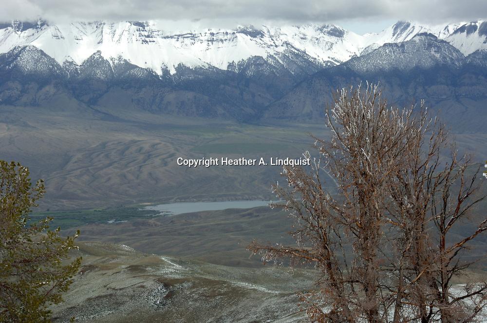 Overlooking Mackay.Big Lost Mountain Range.