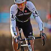 SHOT 1/12/14 4:02:34 PM - Ryan Trebon (#4) of Bend, Ore. competes in the Men's Elite race at the 2014 USA Cycling Cyclo-Cross National Championships at Valmont Bike Park in Boulder, Co. Trebon finished second in the race with a time of 59:59. (Photo by Marc Piscotty / © 2014)