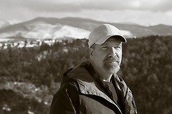 portrait of a middle aged man outdoors in Santa Fe, New Mexico