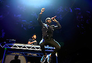 Tinie Tempah performs live on stage at The O2 Arena on March 13, 2015 in London, England. (Photo by Simone Joyner)