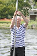 Maidenhead. Great Britain. Amateur Punting Championship, Men's Single. Start,  Thames Punting Club Regatta. River Thames, Bray Reach. Sunday  14/08/2011   [Mandatory credit: Peter Spurrier Intersport Images]