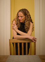 Author and academic Katie Roiphe poses for a portrait in her Brooklyn, NY home. May 21, 2008.