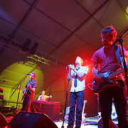 The National performs during the first day of the 2007 Bonnaroo Music & Arts Festival on June 14, 2006 in Manchester, Tennessee. The four-day music festival features a variety of musical acts, arts and comedians..Photo by Bryan Rinnert