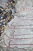 Rock art - Bergkunst i Hegra, Leirfall
