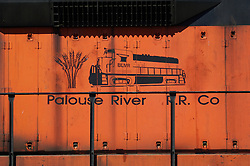 The engine for the Palouse River railroad company.
