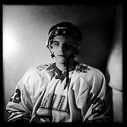 Ice Men Cometh… Teodor Kraynyanov, 19, Bulgaria..An iPhone portrait series on young men competing in the 2012 IIHF Ice Hockey World Championships Division 3. The tournament  was contested by countries New Zealand, Iceland, China, Bulgaria and Turkey at Dunedin Ice Stadium. Dunedin, Otago, New Zealand. 17th January 2012. Photo Tim Clayton