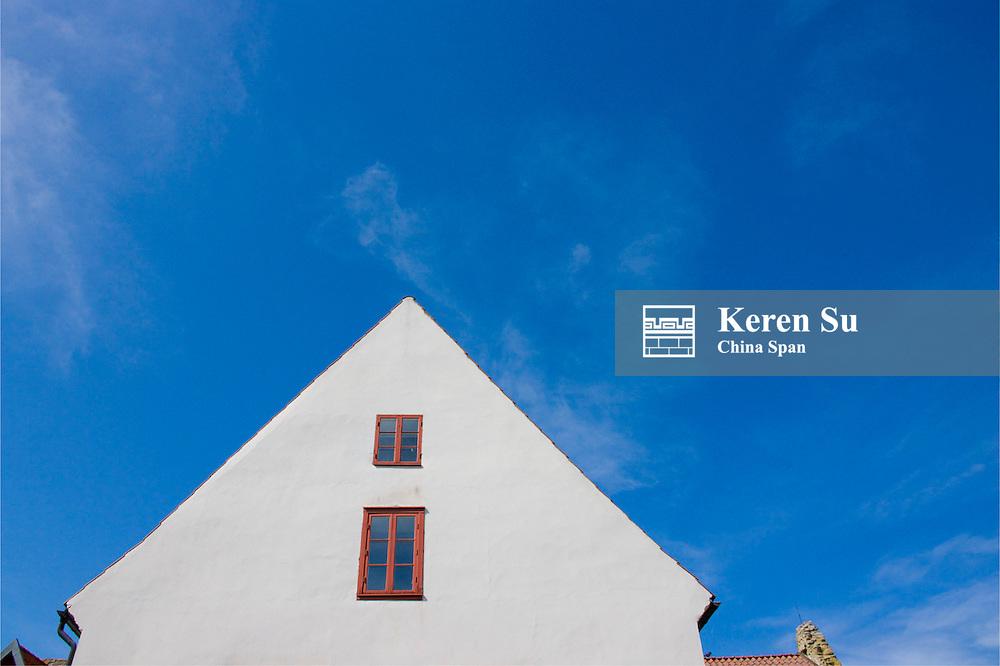 Medieval houses, Visby, Gotland Island, Sweden