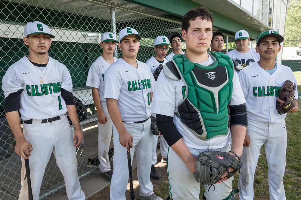 The Calistoga High School baseball team