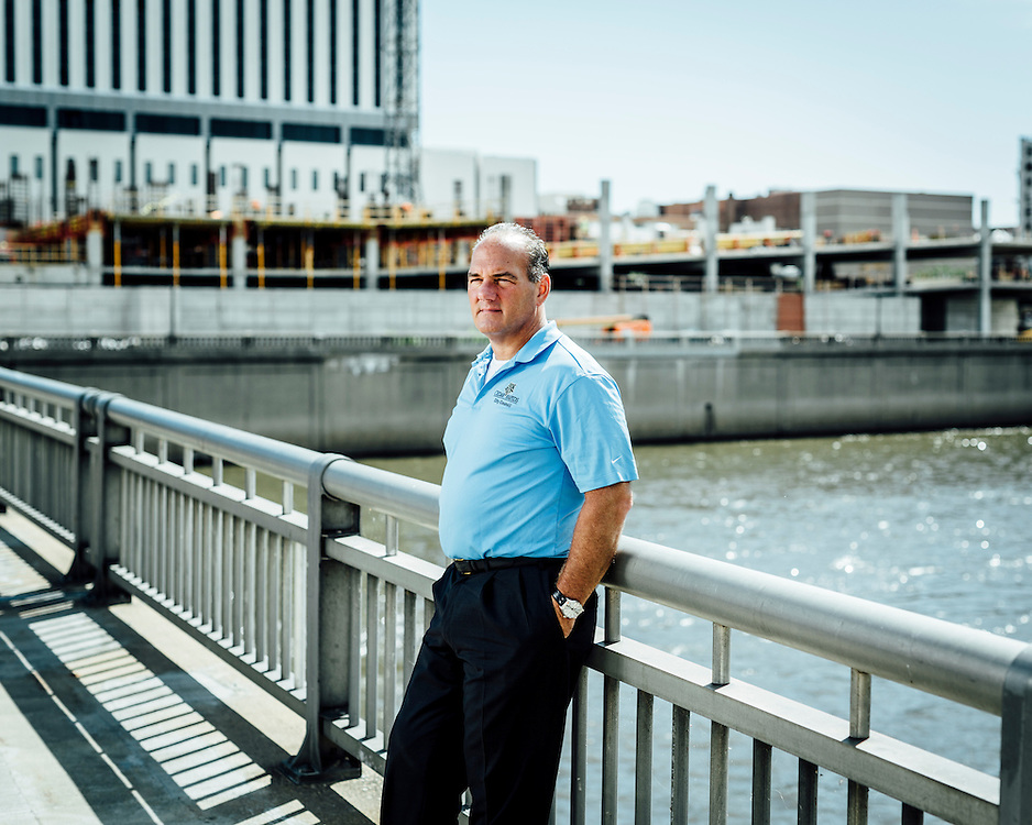 """Mayor Ron Corbett, Cedar Rapids, Iowa, USA.  """"I lost 9 square miles of my city.""""   Ron was a councilman when flooding hit Iowa in 2008 and was central to evacuation and rescue efforts. Those floods caused an estimated $64 billon in damage to Cedar Rapids. Following the flooding and in his position as mayor, he has overseen many prevention programmes in a bid to avoid any future such disasters."""