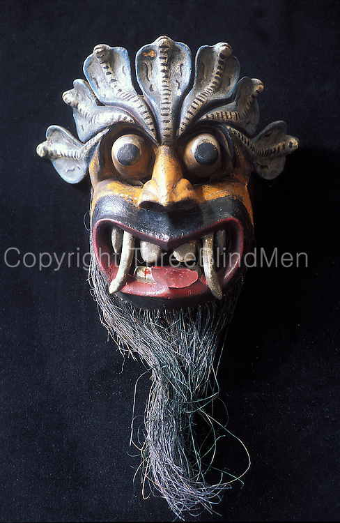 A traditional mask from Sri Lanka.