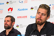 Media Conference with (L-R) Ralph Denk, Team Manager and UCI World Road Champion,  Peter Sagan Tour Down Under, Australia on the 14 of January 2017 ( Credit Image: © Gary Francis / ZUMA WIRE SERVICE )