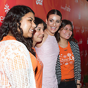 Step Up students with Lea Michele (center)