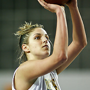 Delaware Junior Forward (#11) Elena Delle Donne at the free throw line during VCU delaware game at the The Bob Carpenter Center In Newark Delaware Thursday Night.