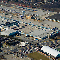 Aerial view of closed Chrysler Plant,  Newark, Delaware<br />  Route 89, Elkton Road,currently owned by the University of Delaware