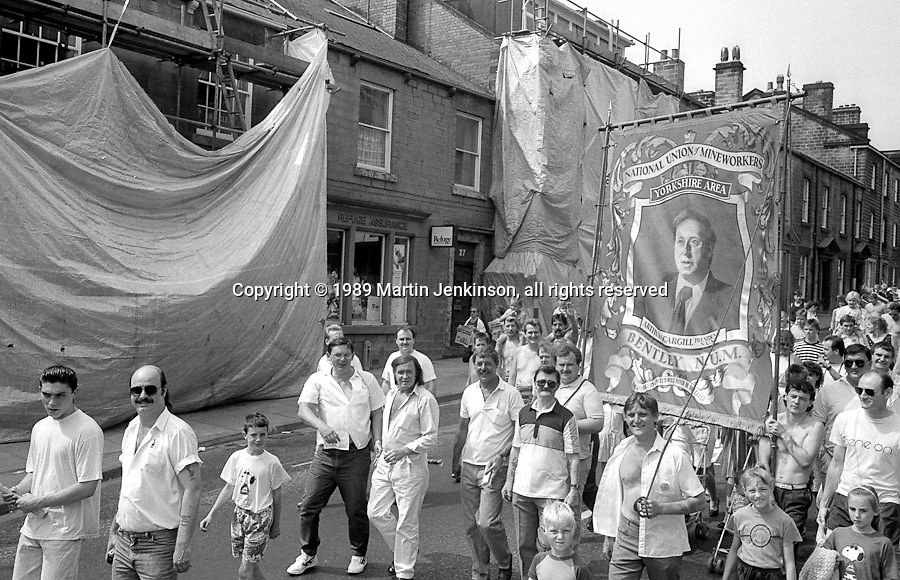 Bentley Branch banner. NUM Centenary Demonstration and Gala, Barnsley.