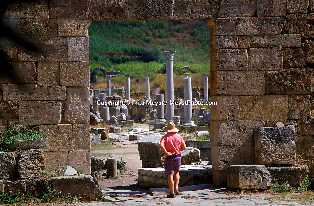 Side, Antalya, Turkey, 2004. The ruins of Perge, the ancient greek city.  Many holidaymakers find their way to the Turkish riviera to enjoy the sun and Turkish hospitality. Photo by Frits Meyst/Adventure4ever.com