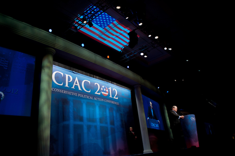 Former Governor of Arkansas MIKE HUCKABEE speaks at the annual Conservative Political Action Conference (CPAC) in Washington, D.C. on Friday. CPAC, which began in 1973, attracts more than 10,000 people and The American Conservative Union, which runs it, announced it expected 1,200 members of the media.