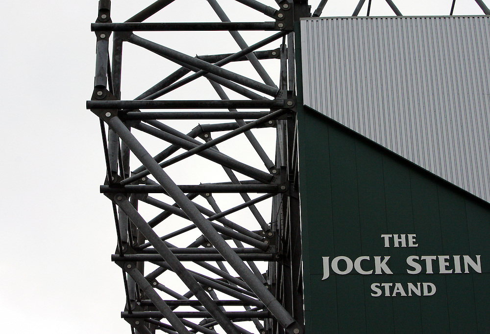 A general view of the Jock Stein stand at Celtic Park. Celtic v Barcelona, Uefa Champions League, Knockout phase, Celtic Park, Glasgow, Scotland. 20th February 2008.