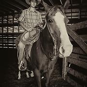 Brady McDonald on horse, Tigger at Warren Ranch at Katy Prairie Conservancy; Katy; Texas