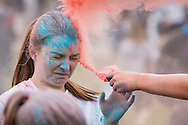 Goshen, New York - The Goshen High School Leo Club hosted a Color Run on May 22, 2016,  at Goshen High School. The Color Run is an untimed run/walk that is fun for all ages. During the race, participants were doused with color at various color stations ending with one final color celebration at the finish line. There was also music, refreshments, games and promotional tables at the event. The race benefited the Goshen Leo Club, which plans to make a donation to a local organization.